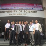 Lab picture with Prof. Đạt, President of VNU HCM